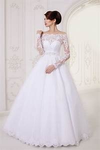 Long A-Line Lace Long Sleeves Wedding Dress | Wedding ...
