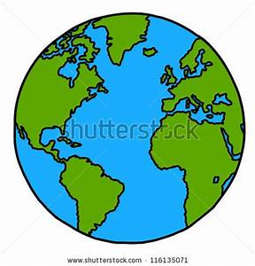 Globe Terrestre Carton : planet earth hand writing cartoon credit stock vector 116135071 shutterstock ~ Teatrodelosmanantiales.com Idées de Décoration