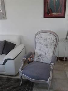 Fauteuil Style Voltaire : fauteuil style voltaire cr maill re apres relooking ~ Teatrodelosmanantiales.com Idées de Décoration