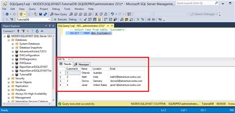 Connect To And Query A Sql Server Instance By