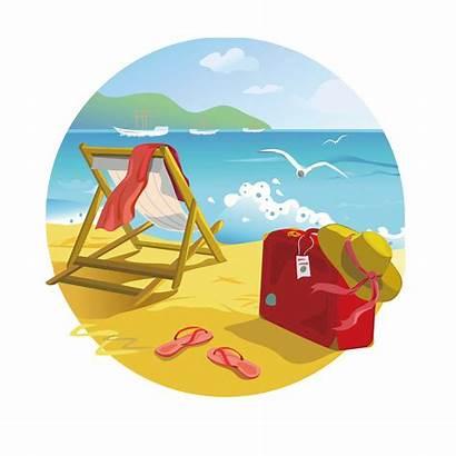 Beach Tropical Clipart Transparent Clip Summer Resort
