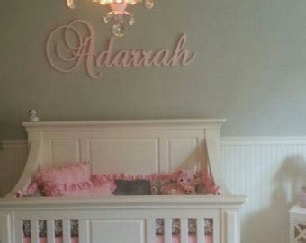 Nursery Name Plaques by Handmade Cursive Wooden Letter Etsy