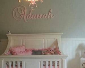 handmade cursive wooden letter etsy With wood wall letters for kids rooms