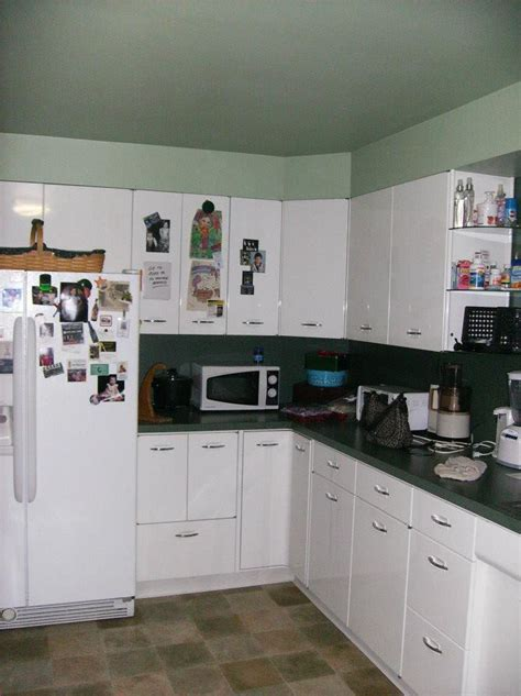 1950's Vintage Metal Geneva Kitchen Cabinets There Is A