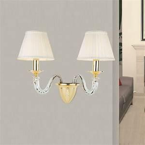 Lampenschirm Weiß Innen Gold : hochwertige wandleuchte 1 flammig silber antik gold 24k lampenschirm wei 1x 40 watt ~ Bigdaddyawards.com Haus und Dekorationen