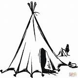 Tent Teepee Coloring Pages Nomads Tipi Drawing Clipart Nomadic Printable Native American Sketch Houses Nomad Printables Supercoloring Version Getdrawings Flowers sketch template