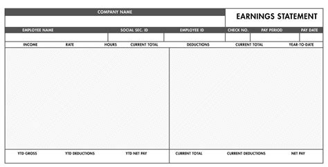 blank pay stubs template blank pay stubs template image collections template design ideas