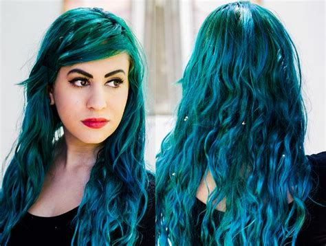best permanent hair color teal hair dye best brands teal blue green