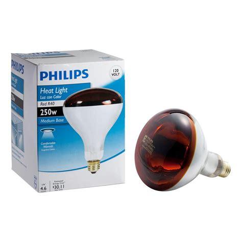 heat l light bulb philips 250 watt r40 incandescent red heat l light bulb