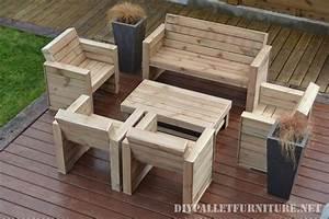 Meuble Pour Terrasse : mobilier pour la terrasse avec palettesmeuble en palette ~ Premium-room.com Idées de Décoration