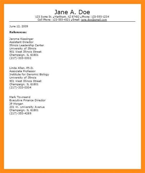 Reference Page Resume by 12 13 Sle Reference Pages For Resume