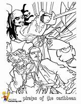 Coloring Caribbean Pirates Pages Pirate Jack Printable Sparrow Yescoloring Cartoon Boys Fight sketch template