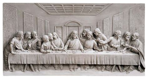Home Interior Last Supper Figurines : Design Toscano Last Supper Wall Frieze