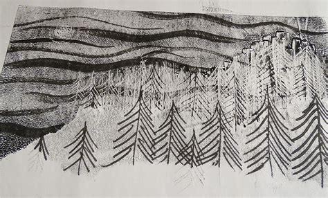 monoprinting inspired  goya turner  cornelius
