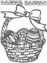 Easter Basket Coloring Pages Printable Colouring Print Flower Egg Eggs Clipart Empty Baskets Cliparts Barbie Template Library Gift Pdf Clip sketch template