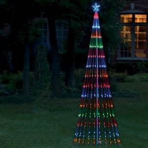 outdoor christmas led light show tree 6 multi lights ebay