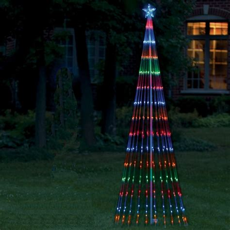 outdoor christmas led light show tree 6 multi lights ebay