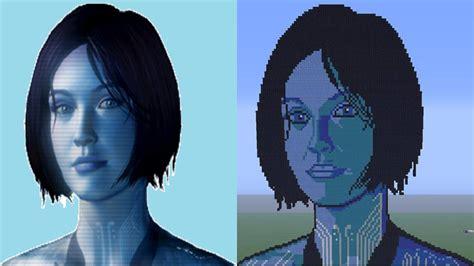 Cortana Halo 4 Minecraft Pixel Art Episode 8 Youtube