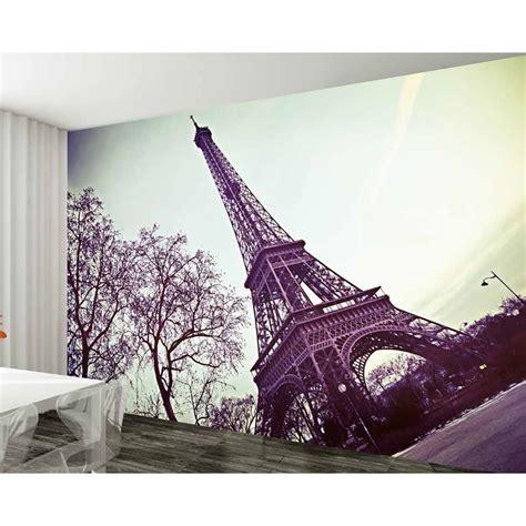 wall paris eiffel tower giant wallpaper mural wp