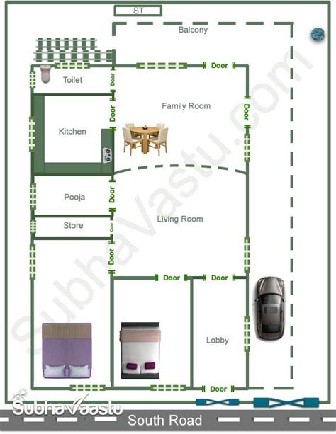 south facing vastu house plan
