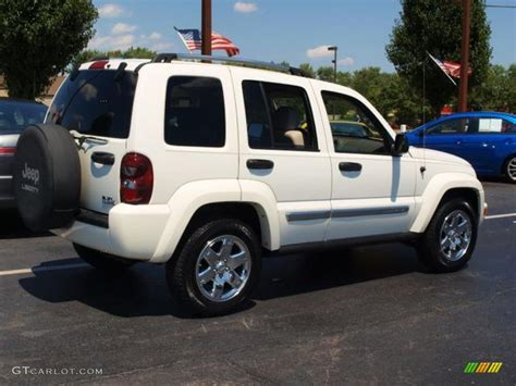 jeep liberty white 2007 stone white jeep liberty limited 4x4 69214352 photo