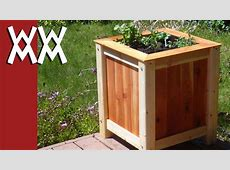 Build an easy, inexpensive wood planter box YouTube