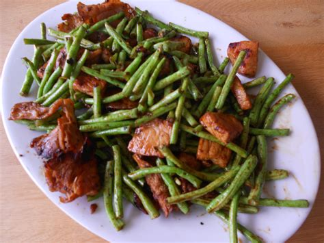 sauté de porc aux haricots verts cuisine cambodge