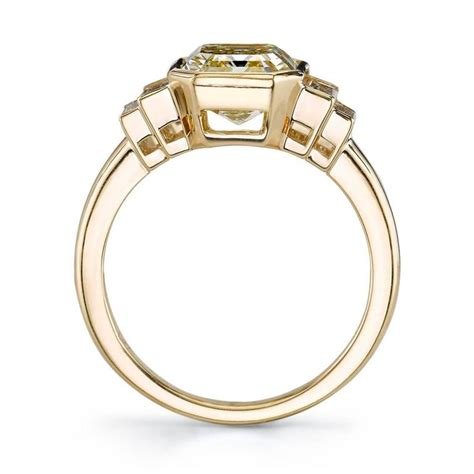 3 06 carat deco emerald cut engagement ring at 1stdibs