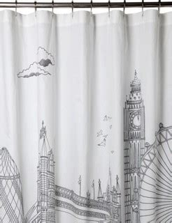 london shower curtain eclectic shower curtains
