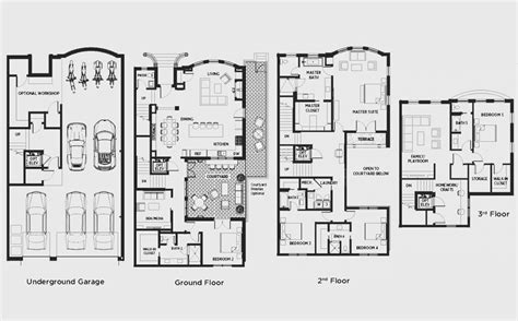 delightful luxury townhome floor plans 1000 images about townhouses on