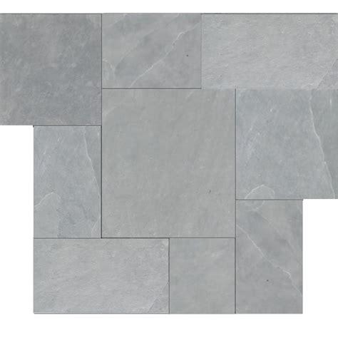 gray montauk blue cleft slate pattern tile