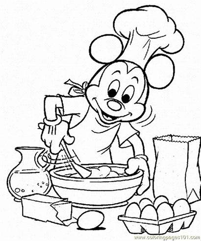 Coloring Cooking Pages Mickey Cartoons Popular