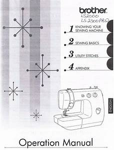 Brother Ls2000 Ls2300prw Sewing Machine Users Guide Owners