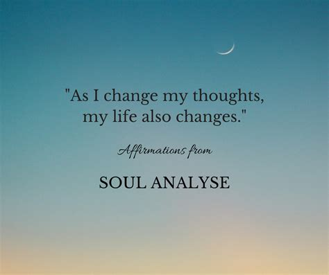 Affirmation Change Your Thoughts  Soul Analyse