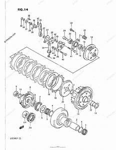 Suzuki Atv 1987 Oem Parts Diagram For Clutch