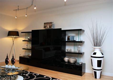 bureau bibliotheque meuble tv verre ébène