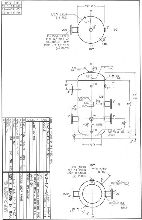 ASME Pressure Vessels, custom ASME vertical unpainted hot