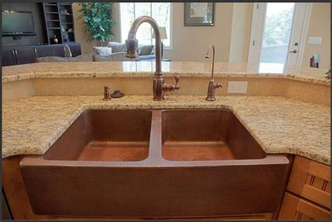 farmhouse well copper sink ozarks house mexican