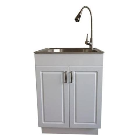 glacier bay laundry tub glacier bay all in one 24 2 in x 21 35 in x 33 85 in