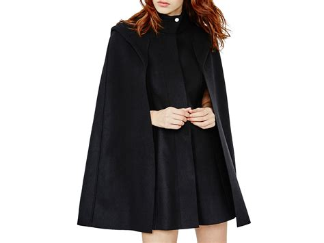 Maje Glasgow Wool-cashmere Cape Coat In Black