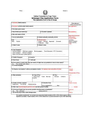 fillable schengen visa application italy fill online