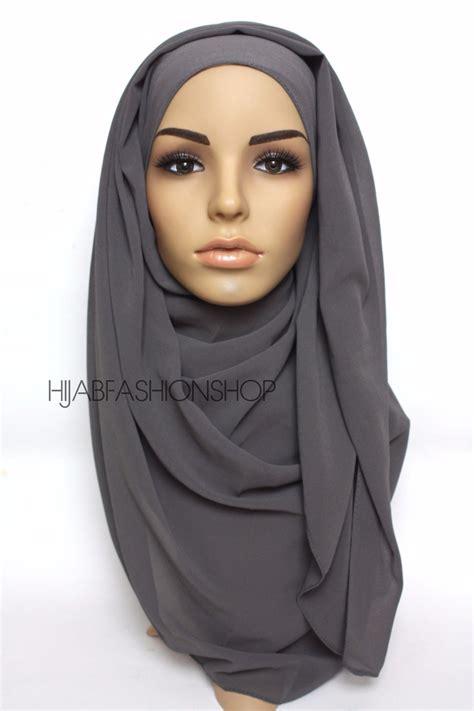 premium chiffon hijab charcoal maxi hijab light hijab buy hijab hijab