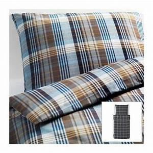 Ikea Bettwäsche 140x200 : ikea bettw sche set benzy kariert blau 140x200 80x80cm kopfkissen bettbezug ebay ~ Orissabook.com Haus und Dekorationen