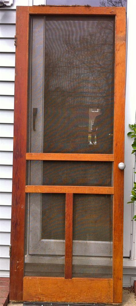 Screen Door by 1940 S Wooden Screen Door 29 3 4 X 79 Inches New Finds