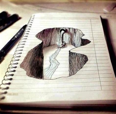 notebook paper drawing art pinterest