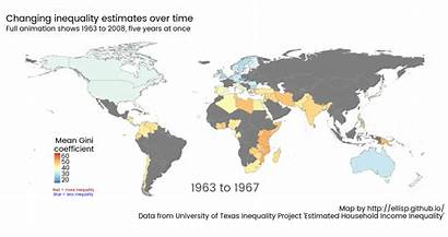 Inequality Map Animated Gini Coefficient Country Scale