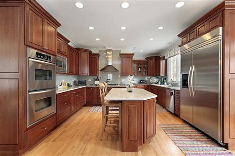 """Light cherry kitchen cabinets readingworks.net. 43 """"New and Spacious"""" Darker Wood Kitchen Designs & Layouts"""