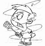Fly Annoying Coloring Cartoon Swat Outline Boy Mad Bugs Ron Leishman Trying Printable Drawing Toonaday Drawings Yahoo Characters Disney sketch template