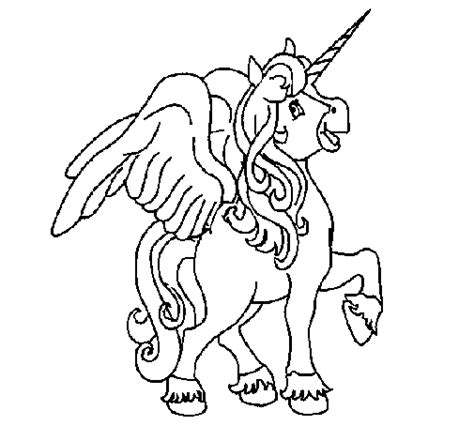 unicorn  wings coloring page coloringcrewcom