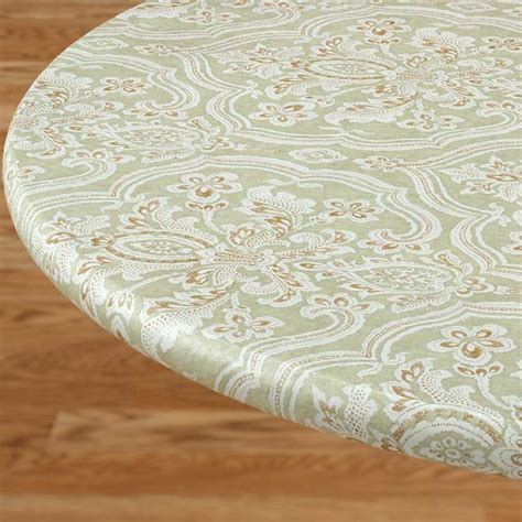 round elastic table covers victorian elasticized table cover kitchen miles kimball